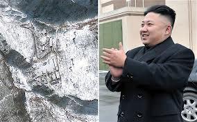 Detonation site and NoKor leader Kim Jong Un