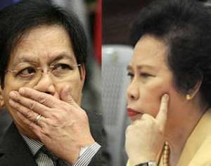 "Feuding Senators Panfilo ""Ping"" Lacson and Miriam Defensor-Santiago"