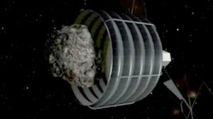 NASA's concept of asteroid-catching device