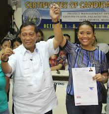 Vice President Jejomar Binay and daughter  Nancy Binay