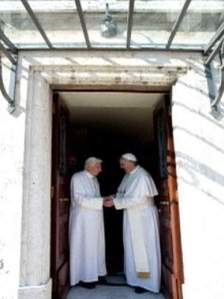 Emeritus Pope Benedict and Pope Francis now both living in the Vatican compound.