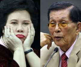 Senators Miriam Defensor-Santiago and Juan Ponce Enrile