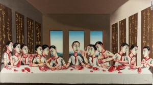 "Zeng Fanzhi's version of ""The Last Supper""."