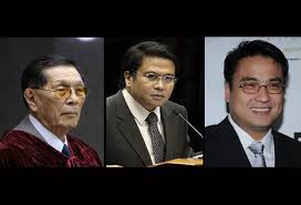 Senators Juan Ponce Enrile, Jinggoy Estrada and Ramon Revilla Jr.