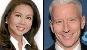 ABS-CBN's Korina Sanchez and CNN's Anderson Cooper