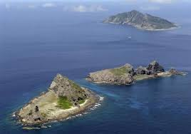 Disputed Senkaku/Diaoyu islands.