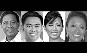 The Binays: Jejomar Sr., Junjun, Abigail, Nancy