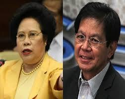 Sen. Miriam Defensor Santiago and Rehabilitation czar Panfilo Lacson