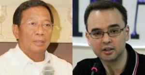 Vice President Jejomar Binay and Senate Majority Leader Alan Peter Cayetano