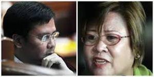 Sen. Jinggoy Estrada confronting DOJ Sec. Leila de Lima during CA confirmation hearing.
