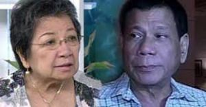 CHR chair Etta Rosales and Davao City Mayor Rodrigo Duterte