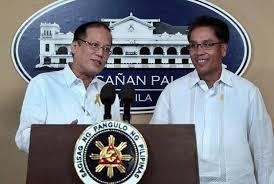 President Aquino with DILG Secretary Mar Roxas