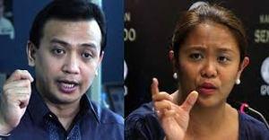 Senators Antonio Trillanes and Nancy Binay