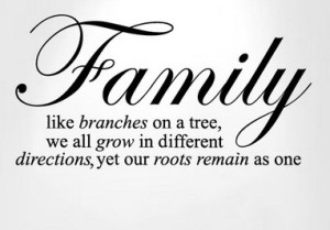 1. family like branches on a tree