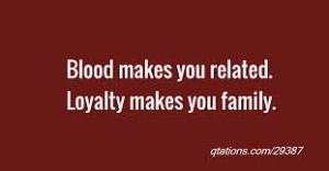 3. blood makes you related