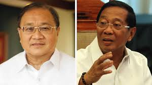 Businessman Manny Pangilinan and Vice President Jejomar Binay