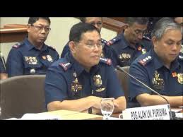 PNP Director General Alan Purisima with his police officials at the Senate investigation.