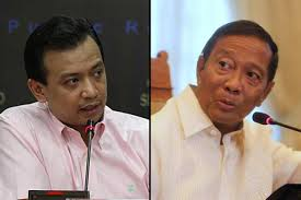 Senator Antonio Trillanes and Vice President Jejomar Binay