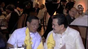 "Inseparable duo: Vice President Jejomar Binay and former President Joseph ""Erap"" Estrada"