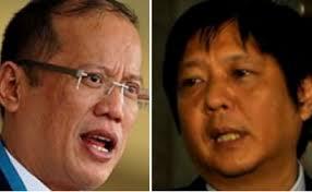 "President Benigno Aquino and Senator Ferdinand ""Bongbong"" Marcos"