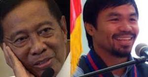 Vice President Jejomar Binay and Sarangani Rep. Manny Pacquiao