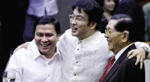 Senators Jinggoy Estrada, Ramon Revilla and Juan Ponce Enrile: Happy and healthy before the arrest.