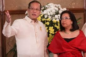 President Benigno Aquino and Supreme Court Chief Justice Maria Lourdes Sereno Maria