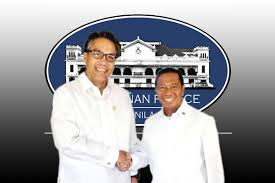 DILG Secretary Mar Roxas and Vice President Jejomar Binay