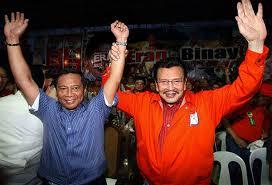 Vice President Jejomar Binay and Manila Mayor Joseph Estrada