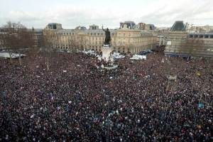 Unity/solidarity rally in France in what was perceived to be a terror attack after the Charlie Hebdo killings.
