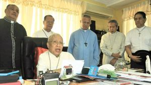 Cardinal Vidal supporting the NTC's call for President Aquino to step down.