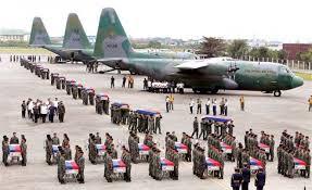 Fallen 44 arrives in Manila.