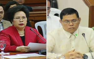 Senator Miriam Defensor-Santiago and Ex-PNP chief Alan Purisima.