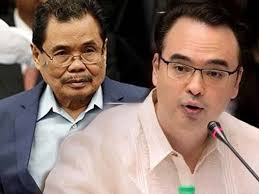 MILF chief peace negotiator Mohagher Iqbal and Sen. Alan Peter Cayetano
