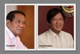 "Vice President Jejomar Binay and Sen. Ferdinand ""Bongbong"" Marcos"