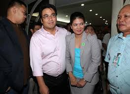 "Detained Sen. Ramon ""Bong"" Revilla and wife, Bacoor City Rep. Lani Mercado"