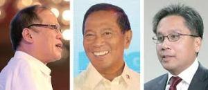 President Aquino, Vice President Binay and Interior Secretary Roxas