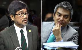 UNA's JV Bautista and Rep. Toby Tiangco