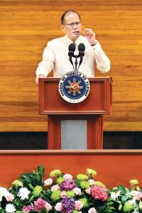 President Benigno Aquino delivering his last SONA.