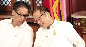 Interior Secretary Mar Roxas with President Aquino.