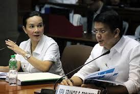 Senators Grace Poe and Chiz Escudero