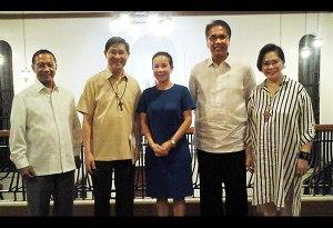 Vice President Binay, Cardinal Tagle, Sen. Poe, Interior Secretary Roxas and PPCRV national chairman Henrietta. de Villa