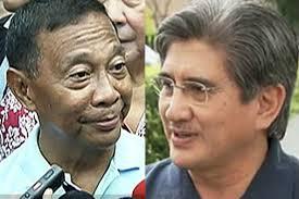 Vice President Jejomar Binay and Sen. Gregorio Honasan