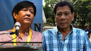 "Sen. Ferdinand ""Bonbong"" Marcos and Davao City Mayor Rodrigo Duterte"