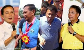 Presidential candidates Poe, Binay, Duterte and Roxas.