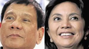 Duterte and Robredo