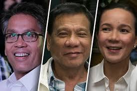 Roxas, Duterte, Poe