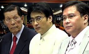 Outgoing Senators Enrile, Revilla and Estrada