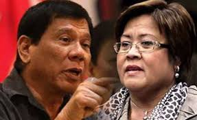 Pres. Rodrigo Duterte and Sen. Leila de Lima