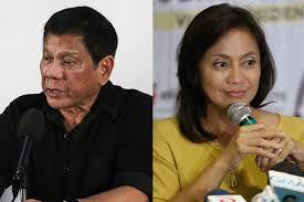 President Rodrigo Duterte and Vice President Leni Robredo
